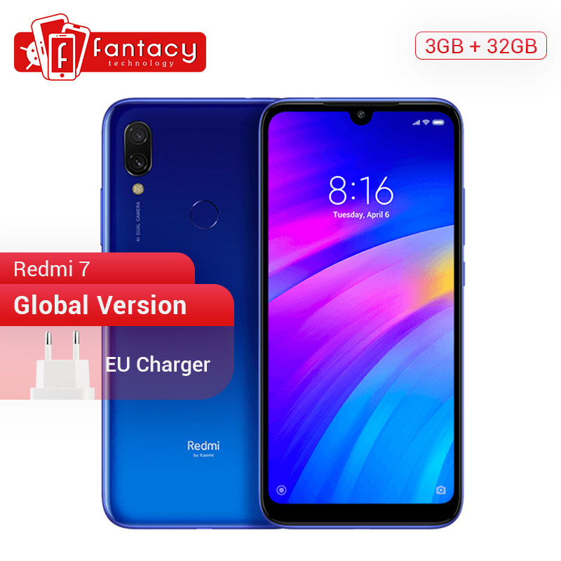 In Stock Global Version Xiaomi Redmi 7 3GB 32GB Snapdragon 632 Octa Core 12MP Dual Camera 6.26 Screen Smartphone 4000mAh Battery