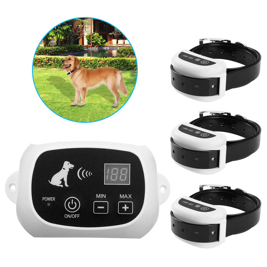 Retail Wireless Electric Dog Pet Fence Containment System Transmitter Collar Waterproof Drop Shipping 27g9