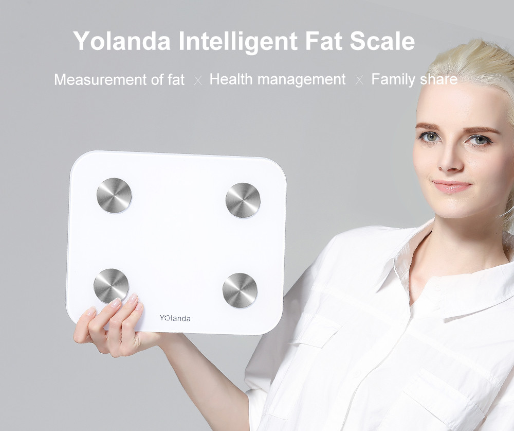 Body Index 15 YOLANDA Smart Scale Household Premium Digital Body Fat Weighing SCALES Electronic Floor Scales