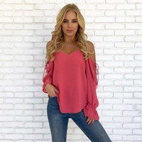 Summer Autumn Women Blouse Shirts Long Sleeve 2018 ...