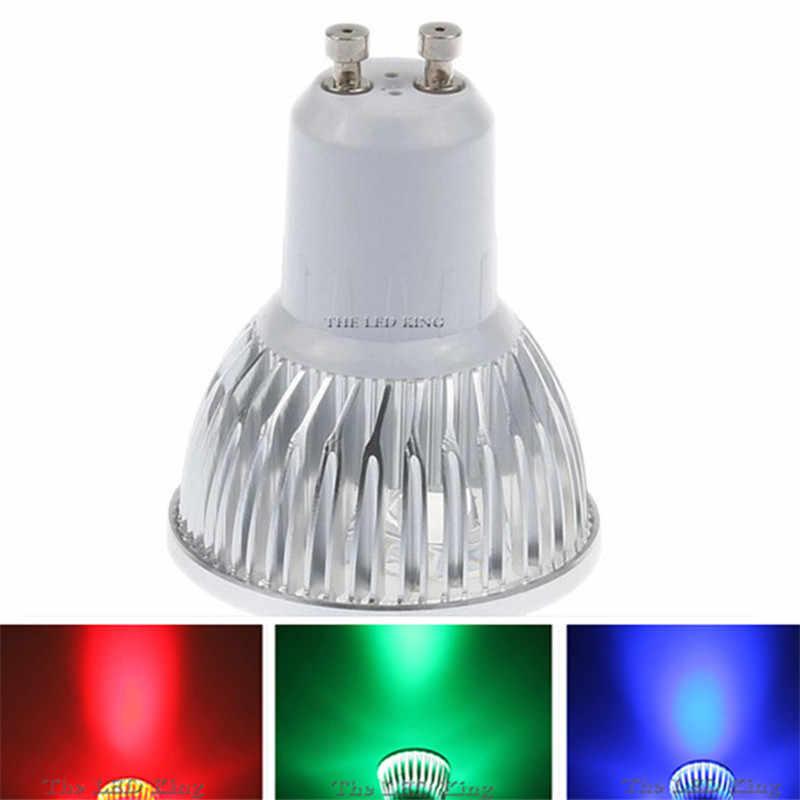 1-10 шт. ГУ 10 Светодиодный прожектор затемнения GU10 светодиодный светильник 9 Вт 12 Вт 15 Вт 110 В 220 В красный цвет зеленый, синий лампада Светодиодный лампочки пятно свеча Luz