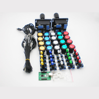 Arcade DIY Bundles With Illuminated button LED holders nuts America Joystick USB controller mainboard and wires