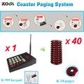433.92 мГц Кухня вызов клиента сервер системы беспроводной цифровой клавиатурой с 40 шт. красный зуммер пейджер coaster