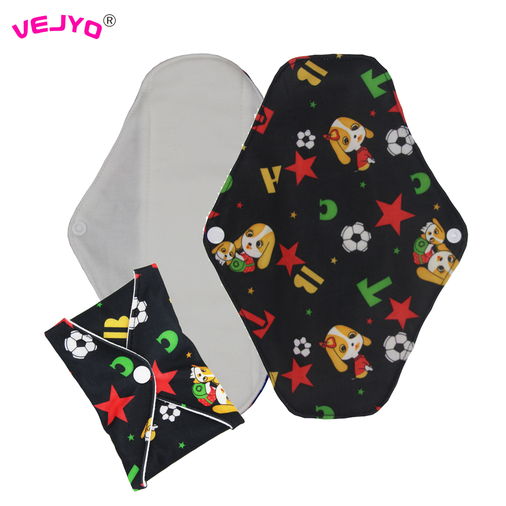 VEJYO 12 Heavy Flow Reusable Sanitary Menstrual Period Cloth Pads for Women High Absorption Soft Bamboo