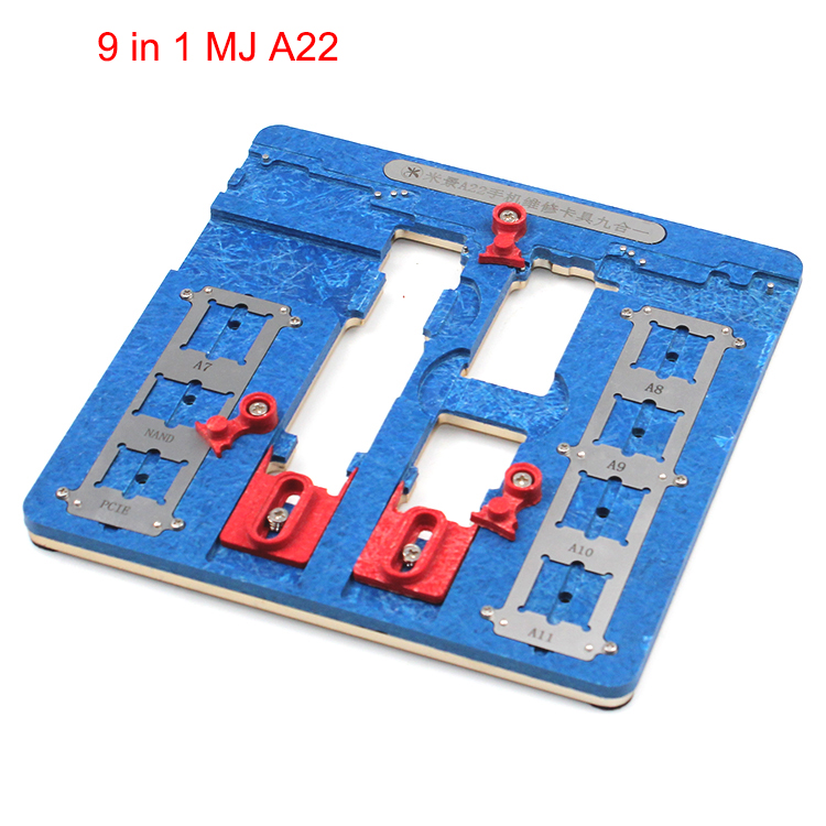 FEORLO High Temperature Resistant PCB Motherboard Test Fixture Jig Holder Maintenance Repair Platform For iPhone 8 8P 7 7P 6 6S high temperature resistant motherboard pcb holder fixture jig work station for iphone 6 6p 6s 6sp 7 7p logic board clamps