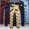 Odinokov Marca Straight Casual de Negocios Pantalones de Los Hombres de Alta Calidad de Diseño de Lujo Primavera Otoño Elegante Masculina de Ocio Pantalones Largos