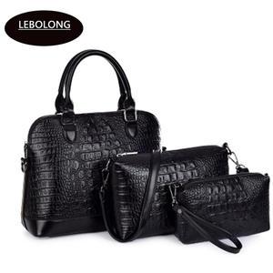 b82057e68c42 lebolong Luxury Women Handbag Genuine Leather Clutch Bags