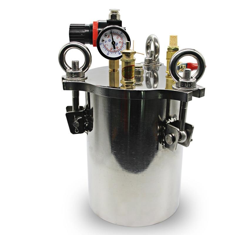 In acciaio inox dispenser erogazione liquido serbatoio a pressione secchio 1L/2L/3L Y