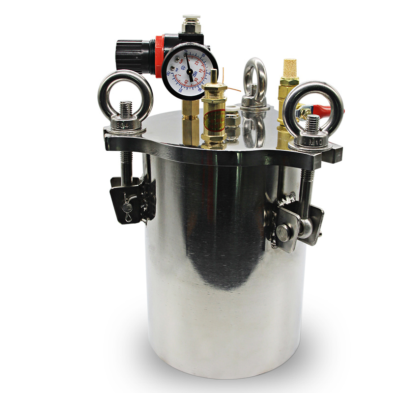 Stainless steel dispenser pressure tank fluid dispensing bucket 1L/2L/3L YStainless steel dispenser pressure tank fluid dispensing bucket 1L/2L/3L Y