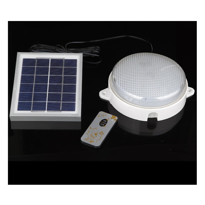 ФОТО Split type Outdoor Garden Solar LED Lamp Indoor Household Ceiling Lamp Wall lampara Remote Control Porch Light Street Lanterns