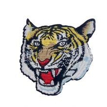 DOUBLEHEE218 The Tiger Size7.5cm-*7.8cm Patches Embroidered Iron On Patch For Clothing Sticker Badge Paste Clothes Bag Pants