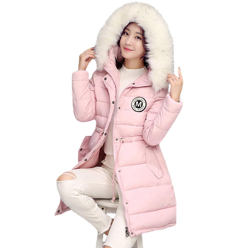 Winter Women Jacket Down Cotton Coat Hooded Long Parkas Thicken Fur Collar Padded Patch Female veste d'hiver femmes skinnwille xm 05 7 0 resistive screen win ce 6 0 gps navigator w europe map tf built in 4gb flash memory