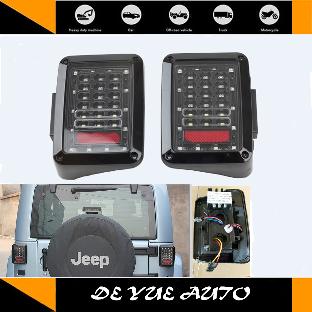 For Jeep Wrangler Led Tail Light Multifunctional Use Jk 2 Tj Reverse Lights Door Cj 97 06 Unlimited 4 07 15 In Car Assembly From