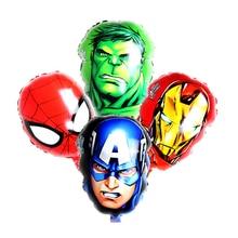 1pc/lot 18inch The Avengers foil balloons super hero helium globos Captain America superman ballon for boys birthday supplies