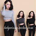 FREE SHIPPING 2016 New Vintage Sexy All Match Solid Gray Black Knitting Pullover Short Strapless Slim Sweaters Women Clothing