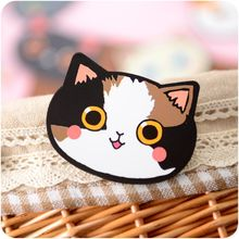 Womens Fashion Mini Pocket Makeup Mirror Creative Cosmetic Compact Mirrors Cute Cartoon Cat Head Small Kawaii Cat small Mirror