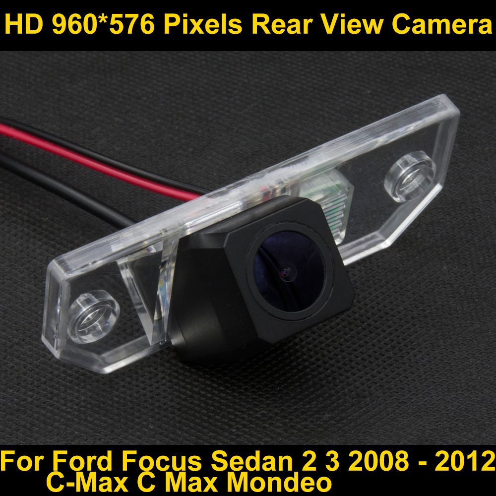 imágenes para PAL HD 960*576 Píxeles de Coches Parking Cámara de visión Trasera para Ford Focus Sedan 2 3 2008 2009 2010 2011 2012 C Max Mondeo C-max coche