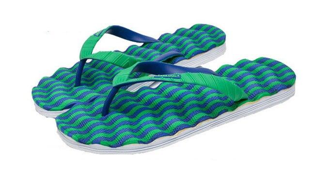 a52c4c2c25fe3 New Wave Design Slippers Sandals Wear Resistant Sole Manual Shoes Man Beach  Casual Massage Plus Size