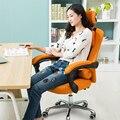 Cadeira de escritório em casa cadeira do computador ergonômico pano Net com apoio para os pés frete grátis