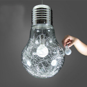 150mm*250mm Brief Glass Ceiling Light single-head light bulb golden silver wire inside bar counter aisle lights