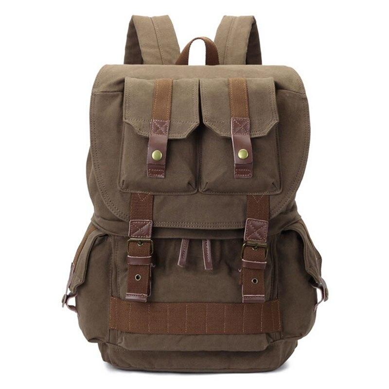 Obrother 8033 # antichoc caméra sac à dos pour Canon DSLR Portable Vintage toile SLR sac sac à dos sac à bandoulière photographie