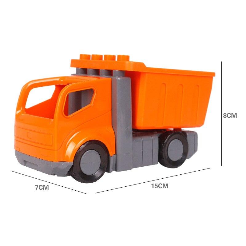 Big SIze Building Blocks Accessory City Bus Truck Aircraft Transport Fire Truck Brick Model Compatible Duploe Toys for children (10)