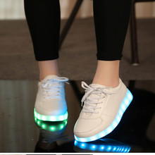 Size 35-46 USB Charger Glowing Sneakers Lighted shoes  for Boys/Girls Led Slippers Luminous Sneakers glowing luminous sneakers feminino baskets with light sole usb charger children led slippers for boy