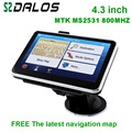 New design 4.3 inch  gps navigation system with world map for choice