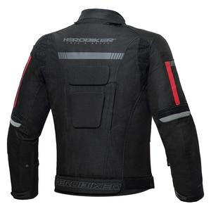 Image 2 - HEROBIKER אופנוע מעיל גברים עמיד למים Moto מעיל אופנוע קר הוכחה סתיו חורף אופנוע רכיבה Moto מעיל שחור