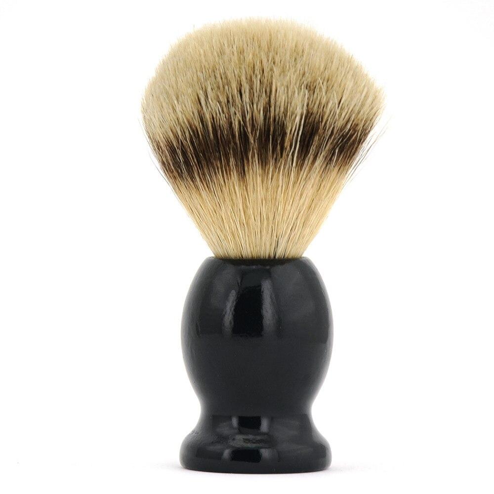 ZY hombres puro pelo de tejón afeitar barba Cepillos madera mango Barbero  afeitado Jabones Cepillos mini viaje 9d71b84b0ab9
