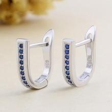 Sininen Sterling Silver Earrings