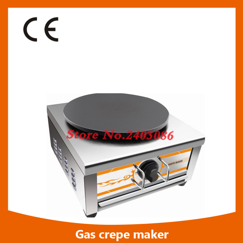 Ce Approval Commercial Single Plate Gas Crepe Maker Machine/gas Crepe Making Machine,Gas Crepe Maker Machine shipule 2017 new high quality gas crepe maker two head commercial crepe making machine price