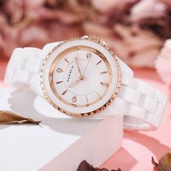 Fashion Ladies Top Brand Luxury Women Watches Ceramic Quartz Watch Elegance Clock Dress Female Montre Femme Dropshipping Watch