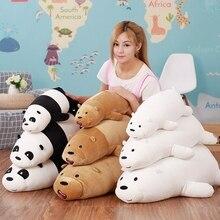 50/70/90cm Cartoon We Bare bears Lying Bear Stuffed Grizzly Gray White Bear Panda Plush Toys for Children Kawaii Doll Kids Gift