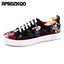 Embroidery Elevator Canvas Trainers Men Black Rubber Male Skate Hidden  Height Increasing Shoes New Breathable Casual ef69c9ef8b4d