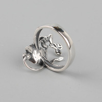 925 Sterling Silver Rose Flowers Ring 2