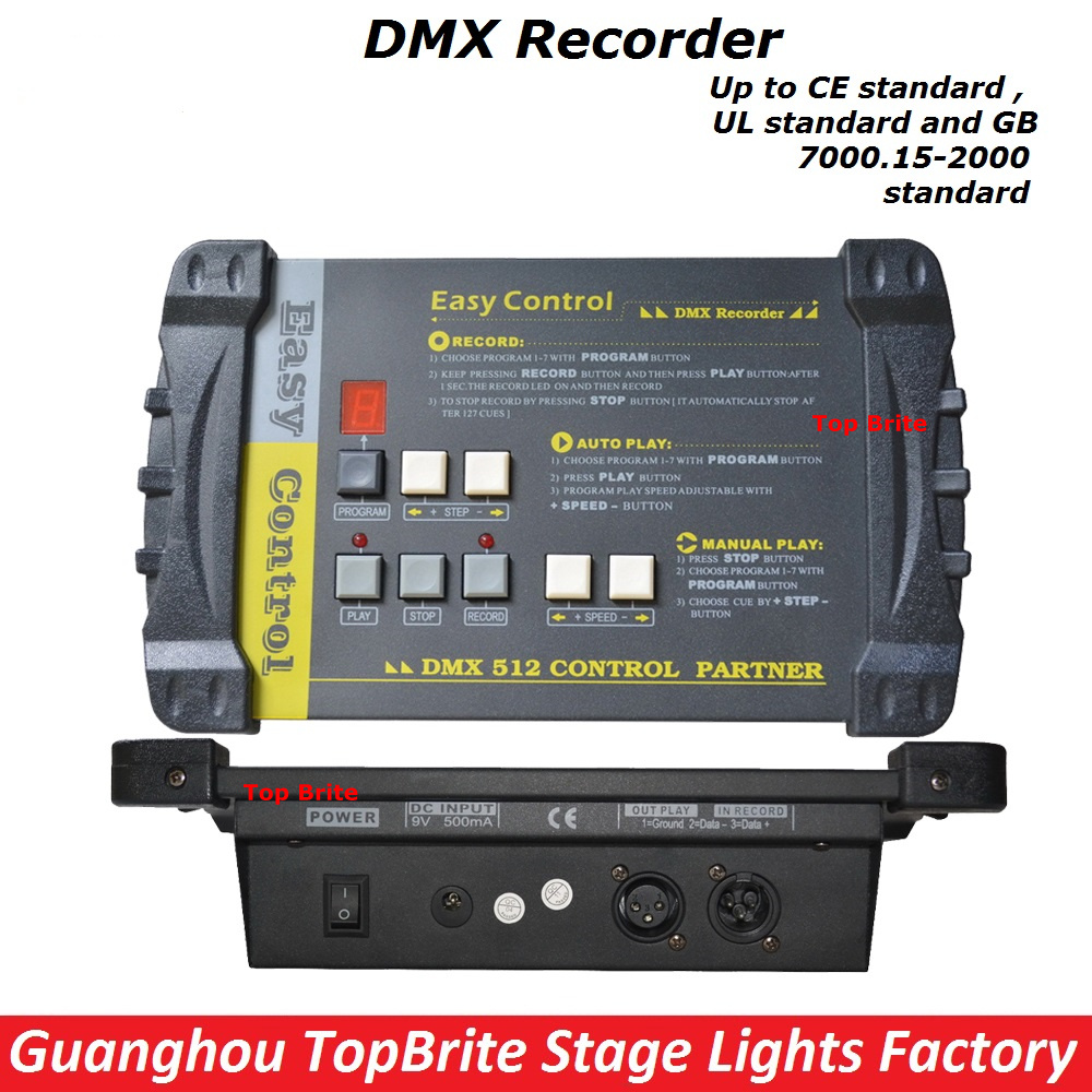 2017 Factory Price High Quality 1Pcs/Lot DMX512 Controller DMX Recorder Easy Console For Stage Dj Disco Lighting Free Shipping