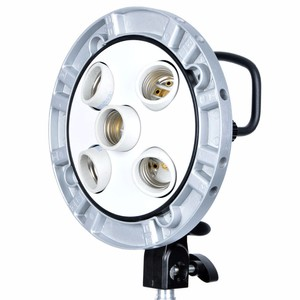 Image 2 - New Godox Studio 5 in 1 Bulb Head Multi holder Tricolor Light Camera Photography Lighting TL 5