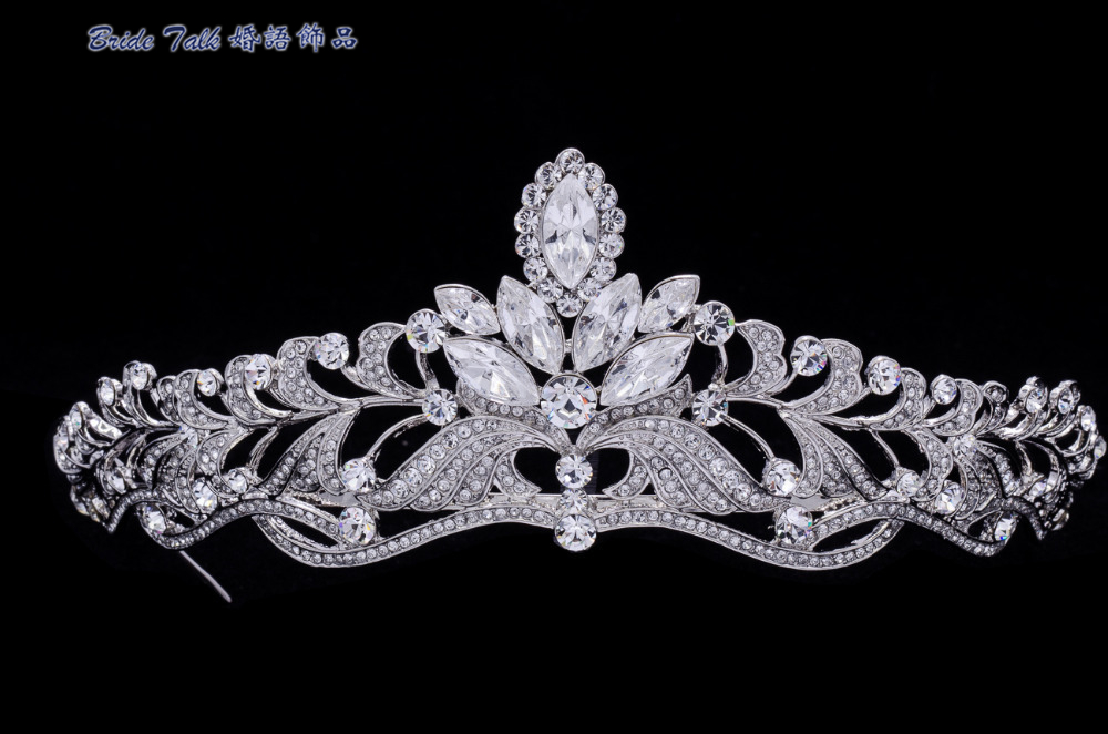 High Quality Austrian Crystals Leaf Flower Tiara Crown For Wedding Jewelry Bridal Hair Accessories Free Shipping SHA8494 стоимость
