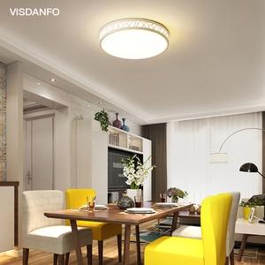 Image 3 - Visdanfo modern Acryle yuvarlak LED tavan lambası AC220V değiştirilebilir lambaları oturma odası için ışıkları fikstür yatak odası ev aydınlatma