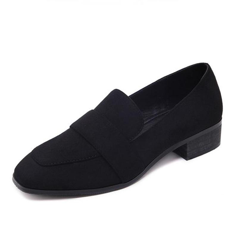 Trabajo Negros Black 2018 De Tamaño Mocasines Pisos Zapatos O4SIfpnqBw
