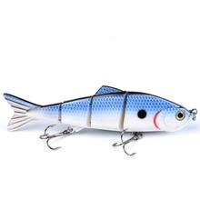 Triangular dorsal fin fish supplies 12.7cm hengelsport Four sections fishing lure sahte yemler Polka dots swimbait leurre dur
