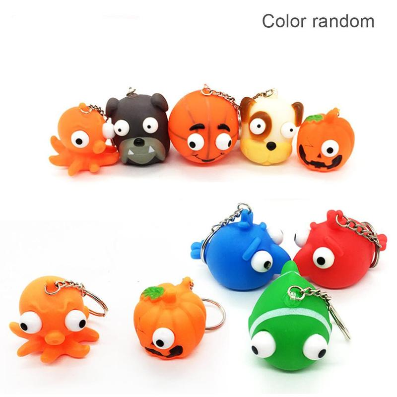 Color Random Ten A Selling PVC Sudden-eye Doll Convex Eye Squeeze Eye Exposed Eye Animal Vent Decompression Relief Toy