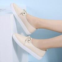 AARDIMI/Большие размеры 35-43; женская обувь; женские балетки из натуральной кожи на плоской подошве; обувь для медсестры; мокасины; Повседневная ...