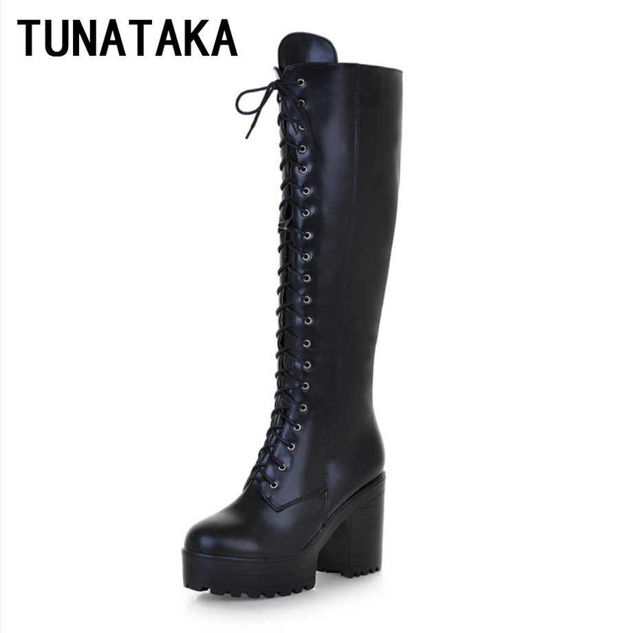 Online Get Cheap Lace up Knee High Combat Boots -Aliexpress.com ...