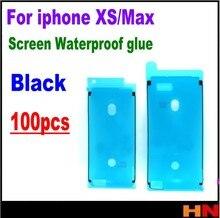 100 шт. Высококачественные наклейки, клейкая лента для iphone XS max 5,8 6,5 LCD сенсорный экран, водонепроницаемая наклейка, герметик экрана