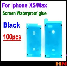 100 個最高品質のステッカー粘着テープiphone xs最大 5.8 6.5 lcdタッチスクリーン防水ステッカーシーラント画面