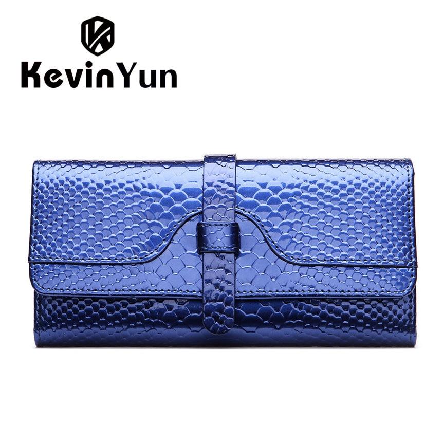 KEVIN YUN Luxury Fashion Women wallets long patent leather wallet purse lady clutch serpentine kevin alan milne heategu mis muutis kõike