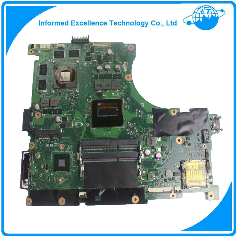 Laptop Motherboard For ASUS N56JK Mainboard With i7 CPU 8 Memory 2 RAM Slots REV:2.0 Fully Tested for asus x550ea x550ep laptop motherboard cpu e1 2100 e1 2500 4gb non integrated mainboard 100% fully tested