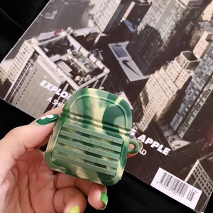 Image 5 - Silicone Camouflage Battle Ground Level 3 Backpack Stock Tertiary Headphone Case For Apple Airpods 1 2 Protection Earphone Cover